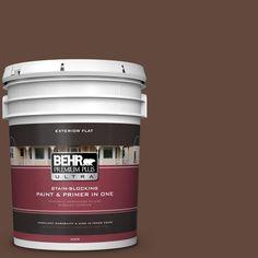 BEHR Premium Plus Ultra 5-gal. #770B-7 Chocolate Sparkle Flat Exterior Paint