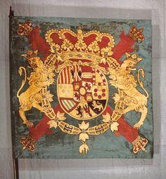 Bandera coronela de un regimiento español. Siglo XVIII