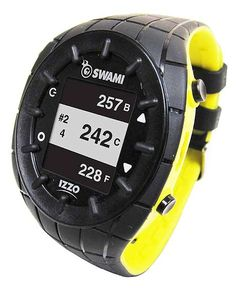 """Izzo Swami Golf GPS Watch - IZZO Swami Golf GPS Watch: Preloaded with more than 30,000 course maps; auto course recognition and hole advance; provides distance to the front, center and back of the green; map editing function; waterproof up to 3.3'; 1.3"""" backlit display. #backcountrynavigator #crittermapsoftware #androidappdeveloper #androidapps"""