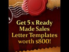 Easy made sales letter to boost your sales product.
