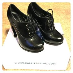 "Call It Spring lace up booties! Super cute Black, lace up, 3"" heels. Wore once. Great shoes! Box included. Call It Spring Shoes Ankle Boots & Booties"