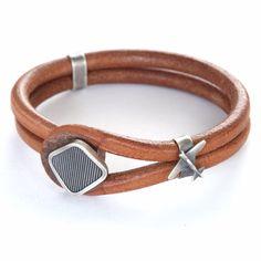 "MAD MAN ~ ""Airplane"" Leather Bracelet"