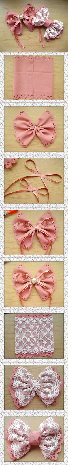 These fast and easy bows show just how easy it is to make extravagant bows for your hair or to decorate. Apply these to a clip, comb, or headband for super cute hair, or attach them to a box, purse, or whatever else you can think of for a custom look to...
