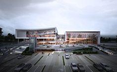 더 알아보려면 글을 방문하세요. Concept Architecture, Facade Architecture, Landscape Architecture, Mix Use Building, Architecture Visualization, 3d Visualization, Hospital Design, Best Build, Site Plans