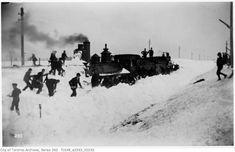 Toronto Winter Photographs Snow blockade - engines fast in a drift - march 21 1896 Toronto Snow, Toronto Winter, Toronto Ontario Canada, Vintage Photographs, Vintage Photos, West Village, Jpg, Past, March 21
