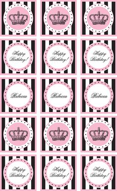 Free printables princess cupcake toppers