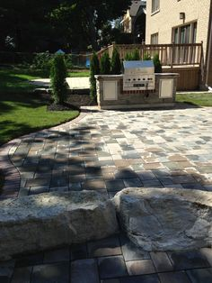 Backyard patios by landform landscaping 905 921 5488 Serving the Golden horseshoe