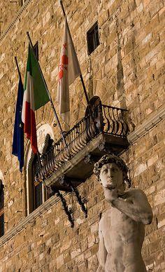 """""""Outside"""" David and Palazzo Vecchio"""