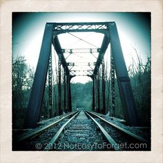 Train Bridge c. 1902 in Ellijay, Ga via @noteasytoforget