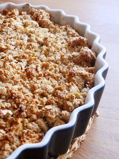A Cozinha da Ovelha Negra: Back to the basics #4 - Crumble de maça (com aveia e amêndoa)