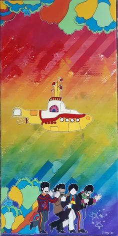 Blue Arts — 🎶-In the town where I was born, Lived a man who. Us Sailing, Yellow Submarine, Submarines, Blue Art, The Beatles, Jelly, Fan Art, Apple, Painting