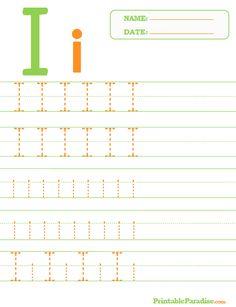 Printable Letter I Tracing Worksheet