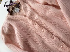 Vintage Casual Corner Pink Sweater small with pearls by MellaFina, $15.00