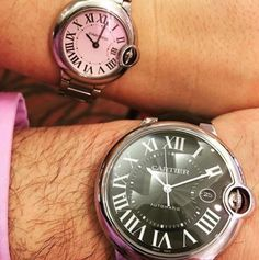 Skip the his and hers bath towels and go for his and her Cartier instead! Cartier Watches, Designer Collection, Precious Metals, Bath Towels, Omega Watch, Jewels, Accessories, Bathroom Towels, Bijoux