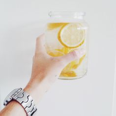 Lemon water every damn day