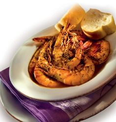 Manale's bbq shrimp. You need a bib to eat it.  And they give you one.