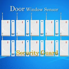 Free Shipping wholesale Sensor alarm Wireless Window Magnetic door detector 433MHz Wireless GSM Alarm System