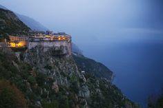 Simonos Petras monastery overlooking the Aegean Sea (http://www.nationalgeographicstock.com/comp/MM7/829/1271000.jpg)