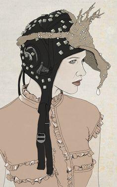 Rachel Freire fashion illustration for Amelia's Magazine.