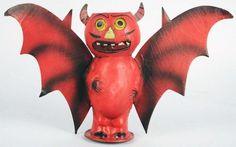 Stunning Intact Winged Devil Lantern