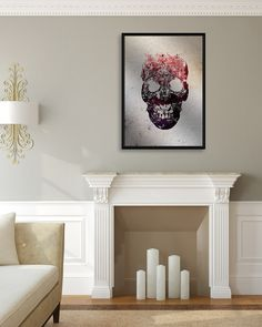 Ali Gulec's Floral Skull is one of our favorite pieces - especially printed on aluminum. Shop all his pieces today at GalleryDirect.com