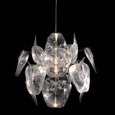 Modern Holographic Blade Ceiling Lamp - ZM Home : Target Home Ceiling, Ceiling Lights, Dot And Bo, Living Room Lighting, Interior Lighting, Lighting Ideas, Holographic, Modern Contemporary, Bulb