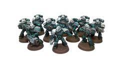 40k - Space Marine Tactical Squad by Sanctio Avitus VII, via Flickr