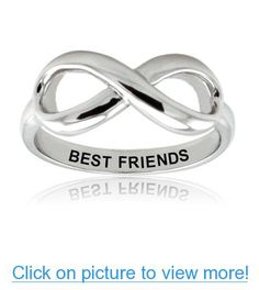 Sterling Silver Best Friends Infinity Ring - Available Size: 4, 4.5, 5, 5.5, 6, 6.5, 7, 7.5, 8, 8.5, 9, 9.5, 10 #Sterling #Silver #Best #Friends #Infinity #Ring #Available #Size: