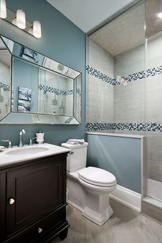 54 Half Bathroom Ideas For Beautiful Bathroom Design On A Budget #Home Decoration # #BeautifulBathroomDesign #HalfBathroomIdeas