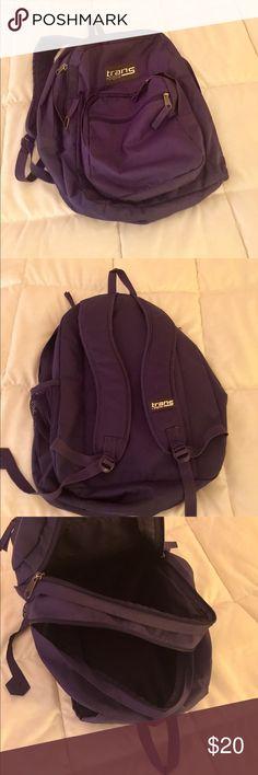 JANSPORT BACKPACK JANSPORT Purple Backpack. Multiple Pockets with Water Bottle Holder on the Side. Like New Condition  Bags Backpacks