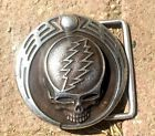 """1983 silver """"steal your face"""" GDP Owsley Stanley belt buckle #4"""