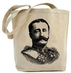 Eco friendly  Military Mustache Man Canvas tote by PaisleyMagic, $19.99