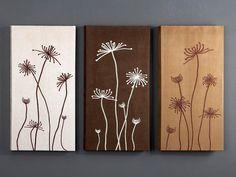 Schuller Set 3 cuadros Flores