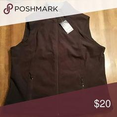 Lands End Vest Navy Blue vest. 100% polyester. Full zipper with two zippered pockets Lands' End Jackets & Coats Vests