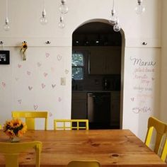 White Chalkboard Wall