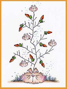 Dust Bunny Tree For All Seasons Card