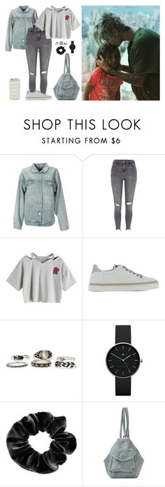"""""""i'mhappythatyoucame"""" by wifeofbizzle ❤ liked on Polyvore featuring STELLA McCARTNEY, River Island, WithChic, Hogan Rebel, Newgate, claire's and MANU Atelier"""