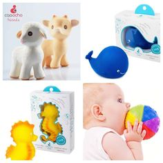 CaaOcho toys are made out of 100% pure natural rubber! These make great bath toys and teethers for playtime! #caaocho #bath #bathtoys #teething #baby #toddler #toys #bpafree #barnaandco #pnw #lilnorway
