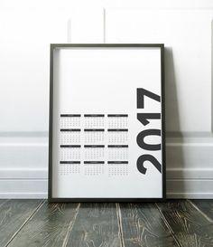 2017 Calendar Wall Calendar Handmade Calendar by NordicDesignHouse