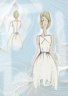 Fashion sketches Dress Murga Anna