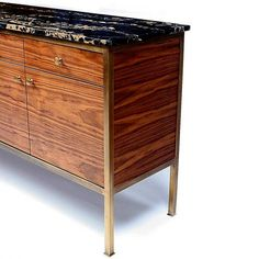 Brass + Marble. Vica, Case Pieces, 90 Degree Buffet