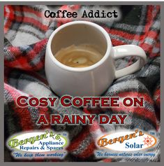 Everybody deserves to stay in bed with a cosy coffee on a rainy day Bergen, Solar Geyser, Appliance Repair, Coffee Addiction, Group Of Companies, Stay In Bed, I Love Coffee, Home Automation, High Tea