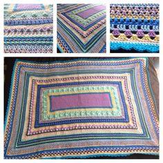 Crochet afghan blanket sampler