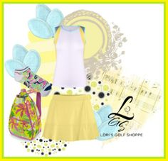 A sweet looking outfit to flaunt on the court/course! Only at lorisgolfshoppe.polyvore.com! #golf #tennis #ootd #polyvore #lorisgolfshoppe