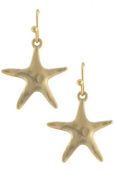Starfish Hook Earrings