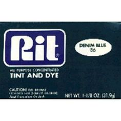#10: Rit Dye Powder - Denim Blue