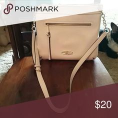 "Liz Claiborne cross body purse White and barely used, like new! Pristine condition inside and out. No wear or marks anywhere. Dimensions are 11"" wide, 10 "" tall, and 1"" bottom. A must have for winter whites! Liz Claiborne Bags Crossbody Bags"