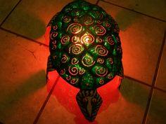 Turtle Floor Lamp Metal Sculpture by 2ndChanceMetalArt on Etsy