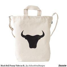 Black Bull Funny Take no Bull Duck Baggu Bag Beach Tote Bags, Rottweiler, Peace And Love, Diaper Bag, Reusable Tote Bags, Backpacks, Black, Medical, Universe