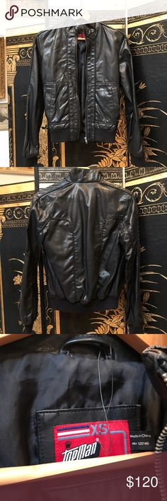 Topman Topshop black leather jacket Never worn, new, no tags. Topman Jackets & Coats